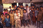 This 2000 image depicted a group of Indian childre