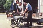 Here we see three emergency medical service (EMS)