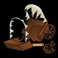 RPG map symbols: caravan wreck