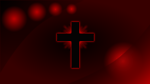 Red Glowing Cross Wallpaper