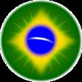 Rounded Brazil flag