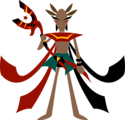 Mage with anubis staff