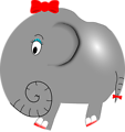 Elephant Girl - Funny Little Cartoon