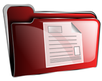 Folder icon red document