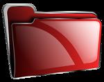 Folder icon red empty