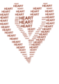 Heart figure done by words