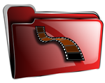 Folder icon red video