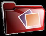 Folder icon red photos