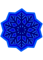 Snow flake - dark