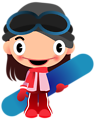 speaking snowboard girl