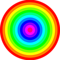 12 color rainbow circles