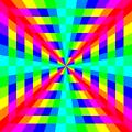 12 color rainbow square tunnel