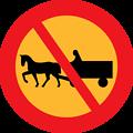 No horse and carts sign