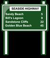 road distances sign