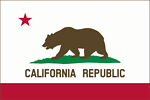 Flag of California (solid, color, border)