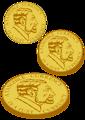 Gold coin for plotter