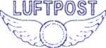 Vintage Luftpost Rubber Stamp