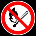 Fire forbidden sign