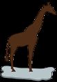 giraffe on ice brown