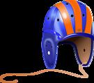 1940's Leather Football Helmet
