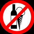 "Sign ""No Drinks, No Ice Cream"""