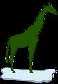giraffe on ice