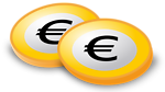 Coins with Euro-Sign