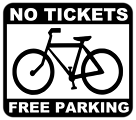bike - no tickets, free parking