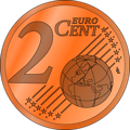 two euro cent