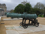 Captured Chinese cannons on display in the front court of Les Invalides in Paris