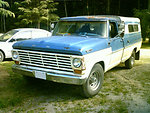 1968 Ford F-series pickup truck. Warm Springs Christian Camp, Stanwood WA. Arthur Hu ipaq rx3715 PDA camera