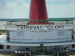 'Carnival Glory' found on the top deck above one on the entry's