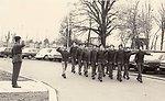 A platoon of soldiers at Mahon Barracks, Portadown