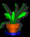 flower and flowerpot