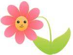 Flower with face