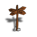 RPG map symbols: Crossroads Sign