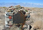 California Historical Landmark Marker #752 marking the site of the Owens Lake Silver-Lead Furnace in Swansea.