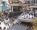 "The central ""square"" of Cabot Circus shopping centre in Bristol, England.