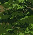 CADPAT digital camouflage pattern of the Canadian Forces.