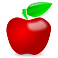 Glossy apple