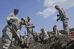 Volunteer Work Continues Outside Misawa Air Base