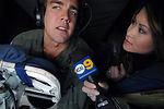 Media, celebrities receive bird's eye view of AF mission
