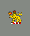 Crest of the Governor General of Canada with grey background