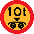 10 ton payload sign