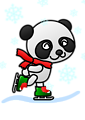 Colored: Panda Skater