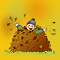 Colored: Leaf pile