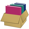 Box with folders