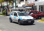 2001-2003 Chevrolet Chevy Telmex photographed in Cancun, Quintana Roo, Mexico.
