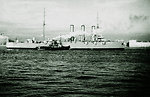 Russian protected cruiser Aurora. The last appearance. Русский:  Последний выход «Авроры» на Неву.
