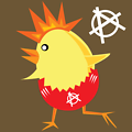 punk rock chicken for easter